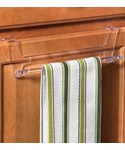 Over Cabinet Door Towel Bar - Clear