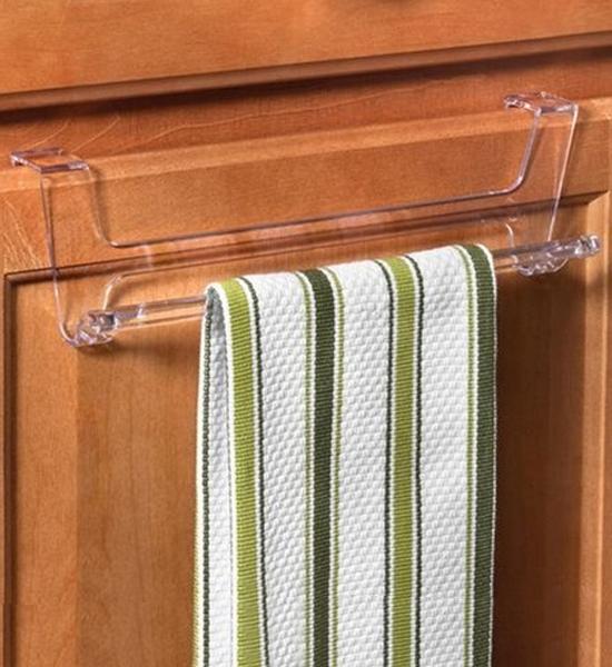 ... Over Cabinet Door Towel Bar   Clear ...