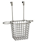 Over Cabinet Styling Rack with Basket