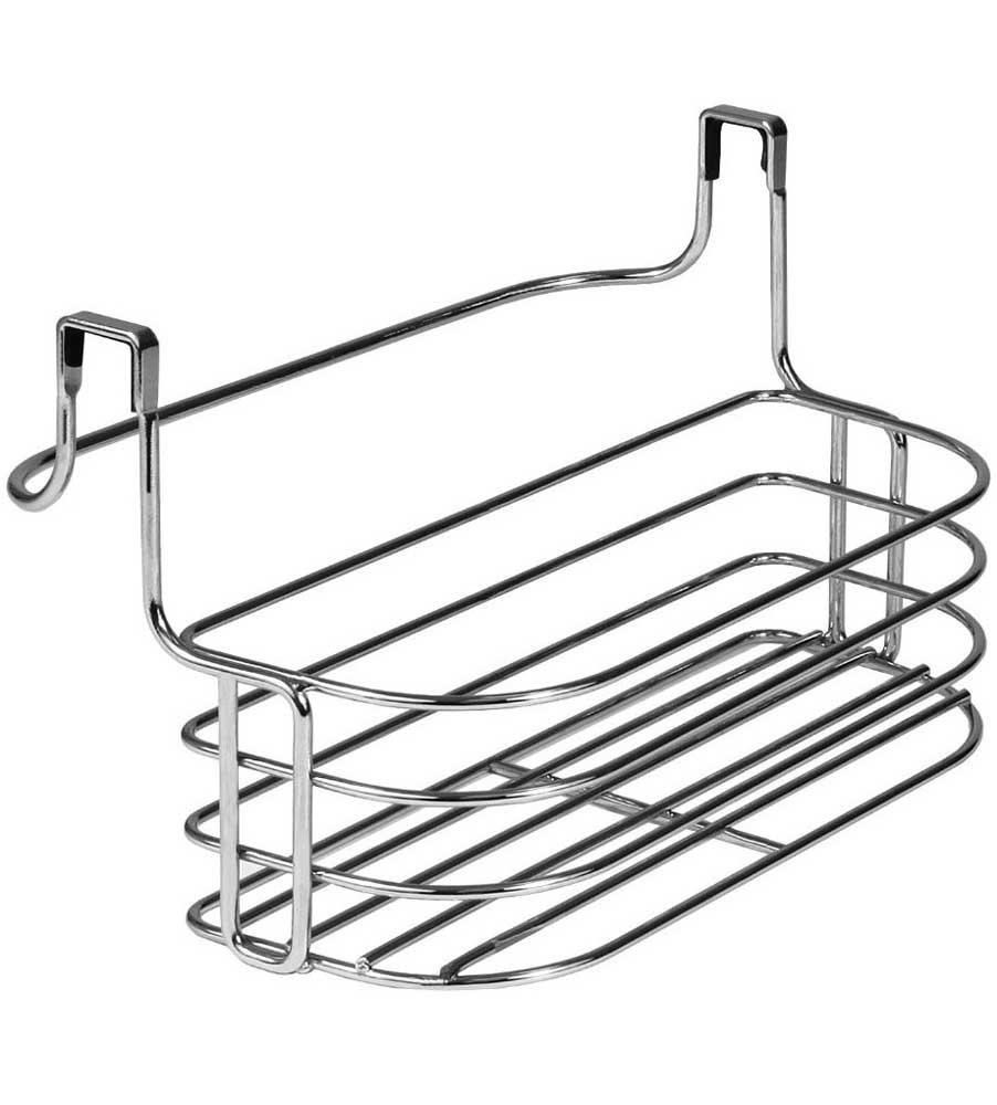 over door towel rack with basket image