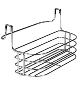 Over Door Towel Rack with Basket Image