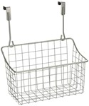 Over the Cabinet Door Basket - Nickel