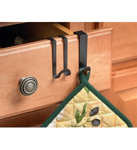 Over the Cabinet - Kitchen Towel Hooks Image