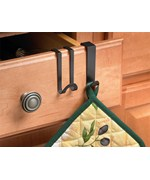 Over the Cabinet - Kitchen Towel Hooks