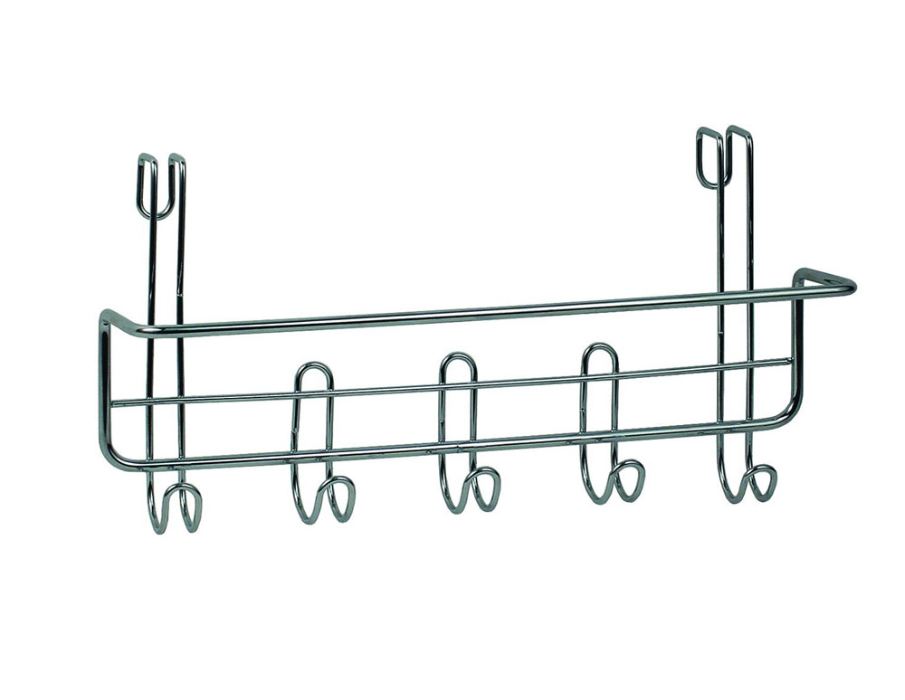 Over The Cabinet Towel Bar And Hooks Price: $6.99