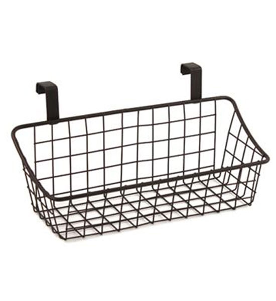 Cabinet Door Storage Basket Bronze in Cabinet Door Organizers – Over Cabinet Door Storage