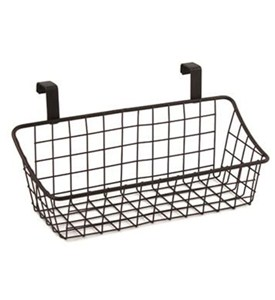 Cabinet Door Storage Basket - Bronze Image