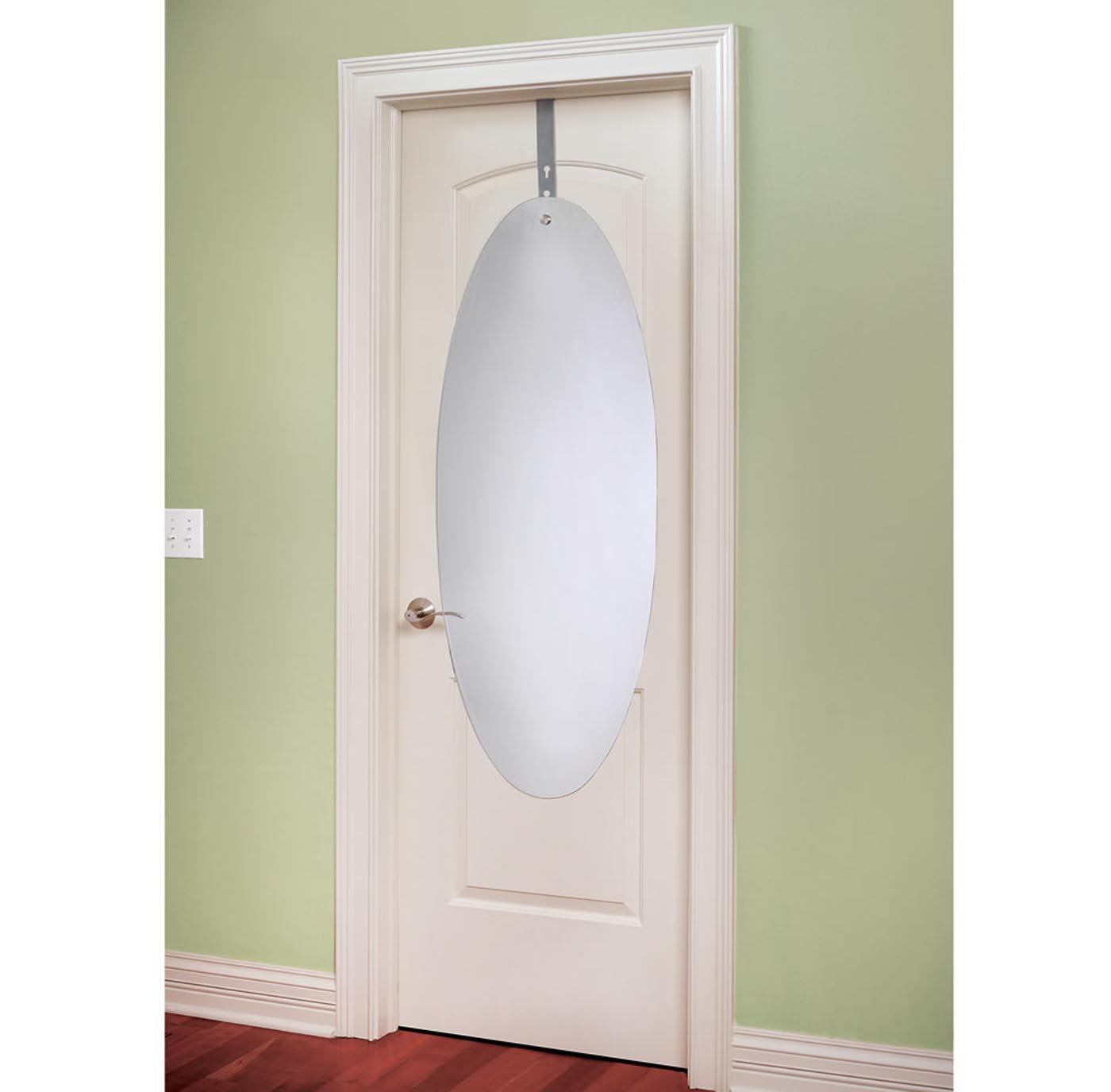Over The Door Acrylic Mirror With Adjustable Bracket By