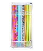Over the Door Gift Wrap Organizer