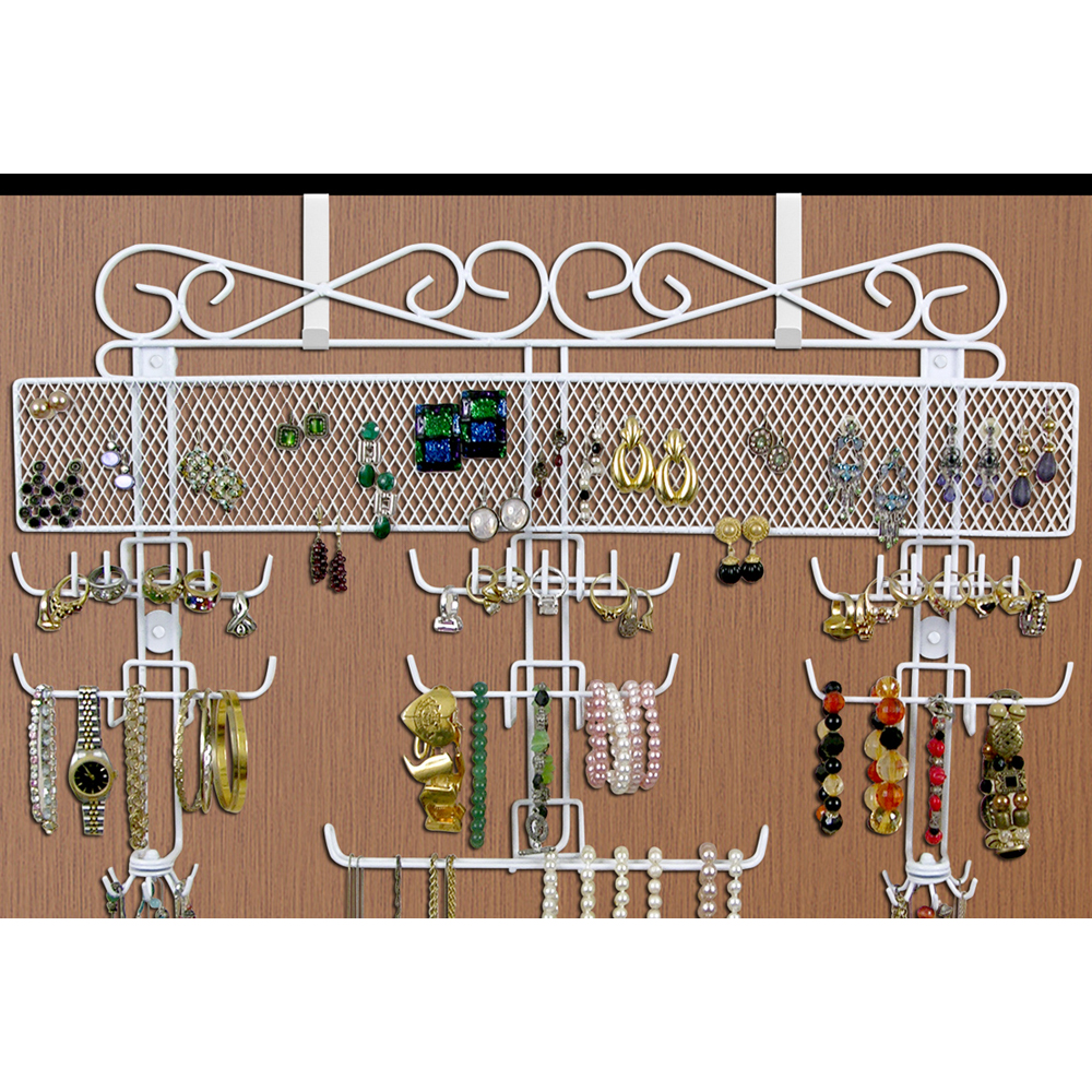 Over The Door Jewelry Valet In Hanging Jewelry Organizers