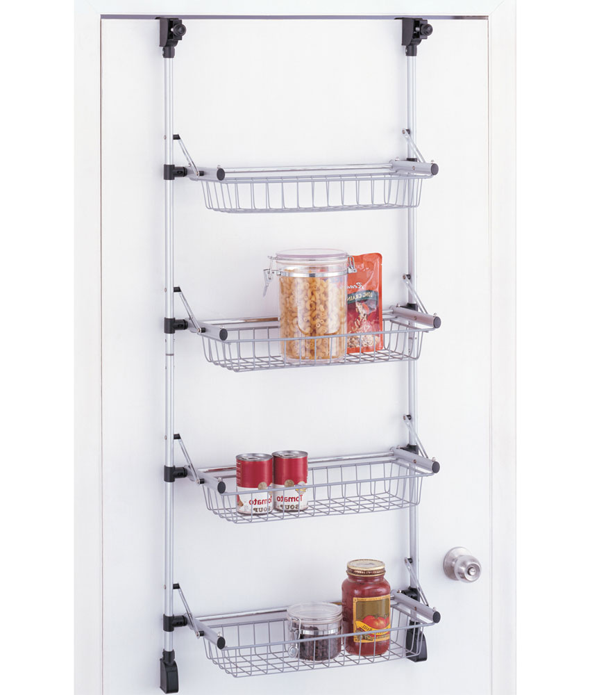 Over the door pantry organizer in wall and door storage racks for Door organizer