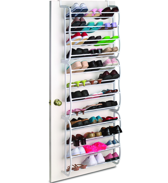 over the door shoe rack 36 pair white in over the door shoe racks. Black Bedroom Furniture Sets. Home Design Ideas