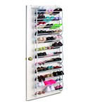 Over the Door Shoe Rack - 36 Pair - White
