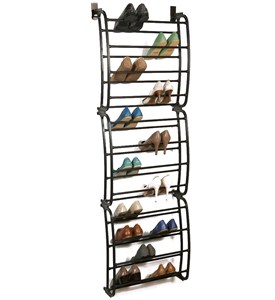 Over the Door Shoe Rack - Bronze Image