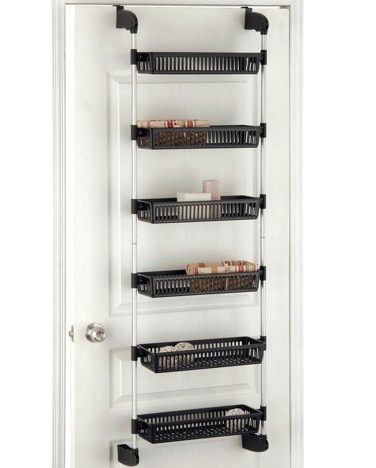 over the door storage baskets in wall and door storage racks. Black Bedroom Furniture Sets. Home Design Ideas