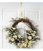 Over the Door Wreath Hanger - Brass