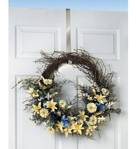 Over the Door Wreath Hanger - Nickel Image