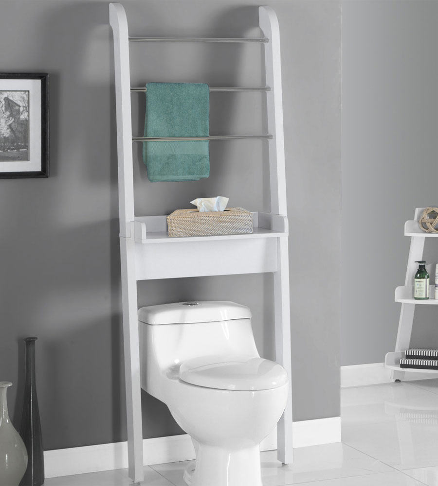 Original Rack Bathroom Shelf Organizer Wall Mounted Over Toilet Storage Bath
