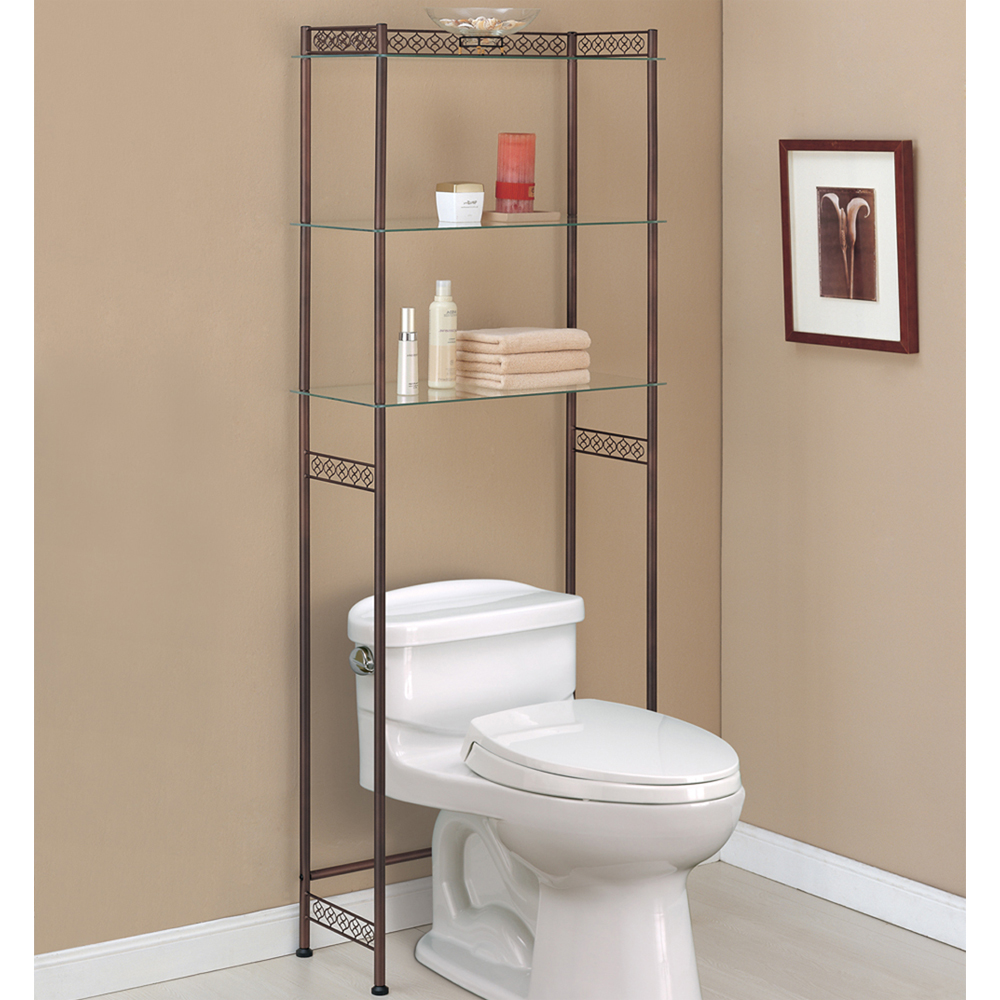 over the toilet etagere bronze in over the toilet shelving. Black Bedroom Furniture Sets. Home Design Ideas