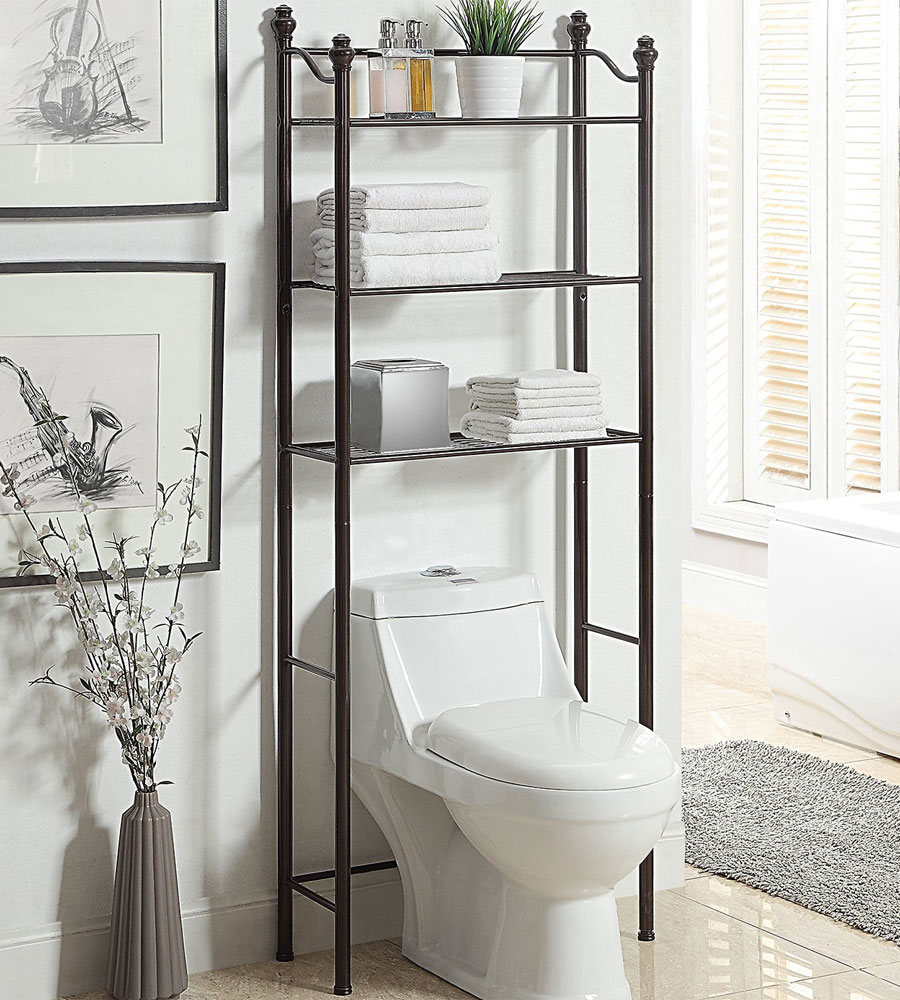 Bathroom Shelves Over Toilet The Image