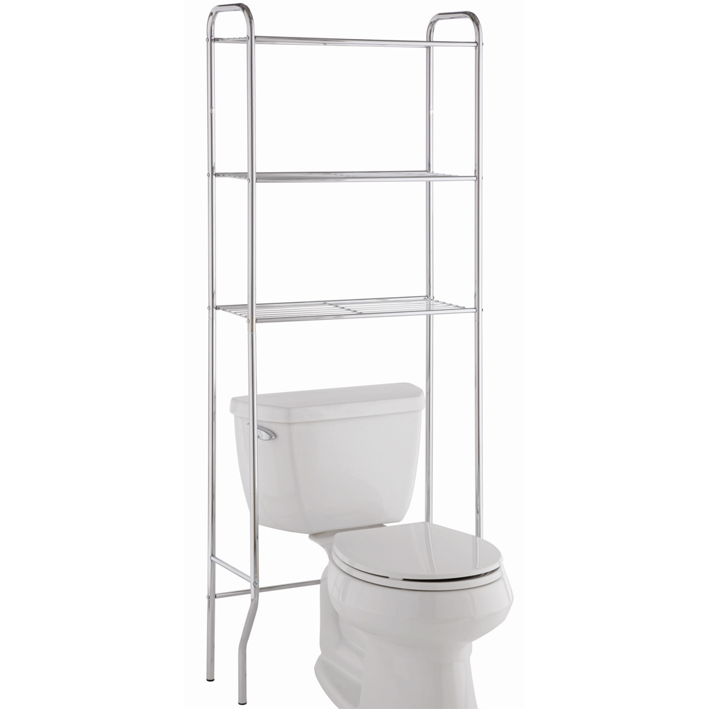 Perfect The 3 Bathroom Shelf Unit Conveniently Fits Overthe Commode  Transforming The Above Toilet Space Into