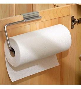 Over Cabinet Door Paper Towel Holder - Stainless Image