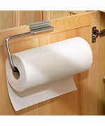 Over Cabinet Door Paper Towel Holder - Stainless