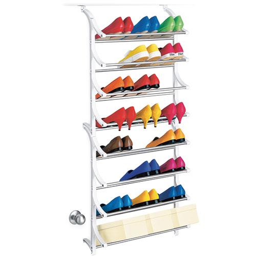 Organizers > Over the Door Shoe Racks > 24 Pair Over Door Shoe Rack