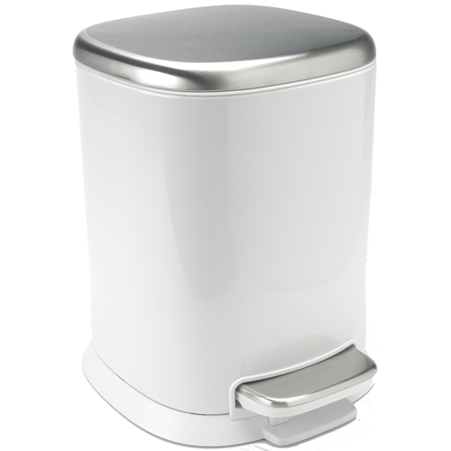 Oxo Stainless Steel Trash Can: White Steel In Small Trash Cans