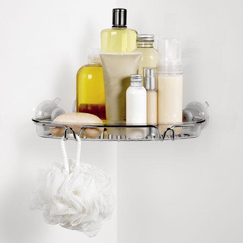 Oxo Good Grips Suction Corner Bath Shelf In Suction Organizers
