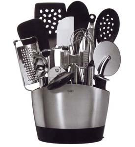 oxo stainless steel utensil holder in kitchen utensil holders. Black Bedroom Furniture Sets. Home Design Ideas