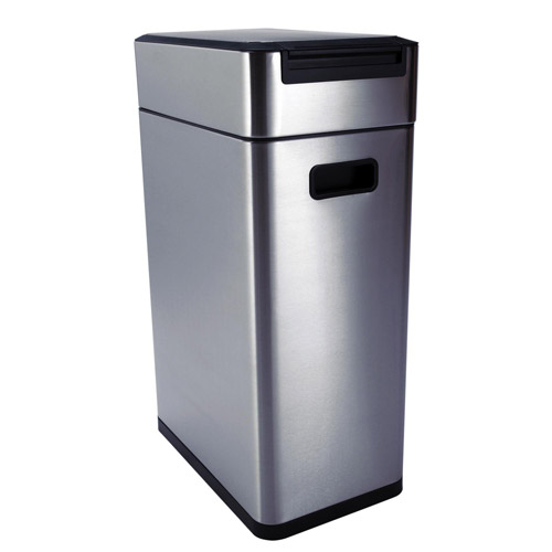 Stainless Steel Kitchen Garbage Can: OXO Stainless Steel Touch Trash Can In Stainless Steel