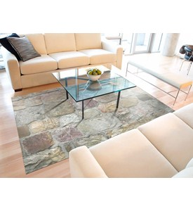 Padded Floor Mat - Rock Pattern Image