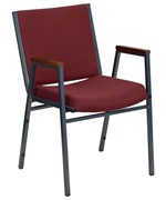 Padded Stack Chair with Arms