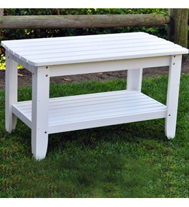 Painted Rectangular Chat Table by Shine Company Image