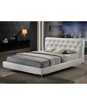 Panchal White Modern Platform Bed - Queen Size by Wholesale Interiors