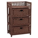 Paper Rope Stained 3 Drawer Chest by Household Essentials