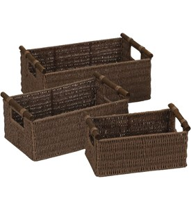 Paper Rope Woven Baskets - Java (Set of 3) Image
