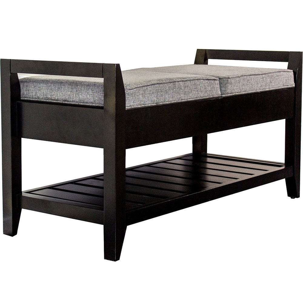 Wooden Storage Bench In Storage Benches