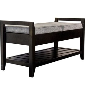 Wooden Storage Bench Image