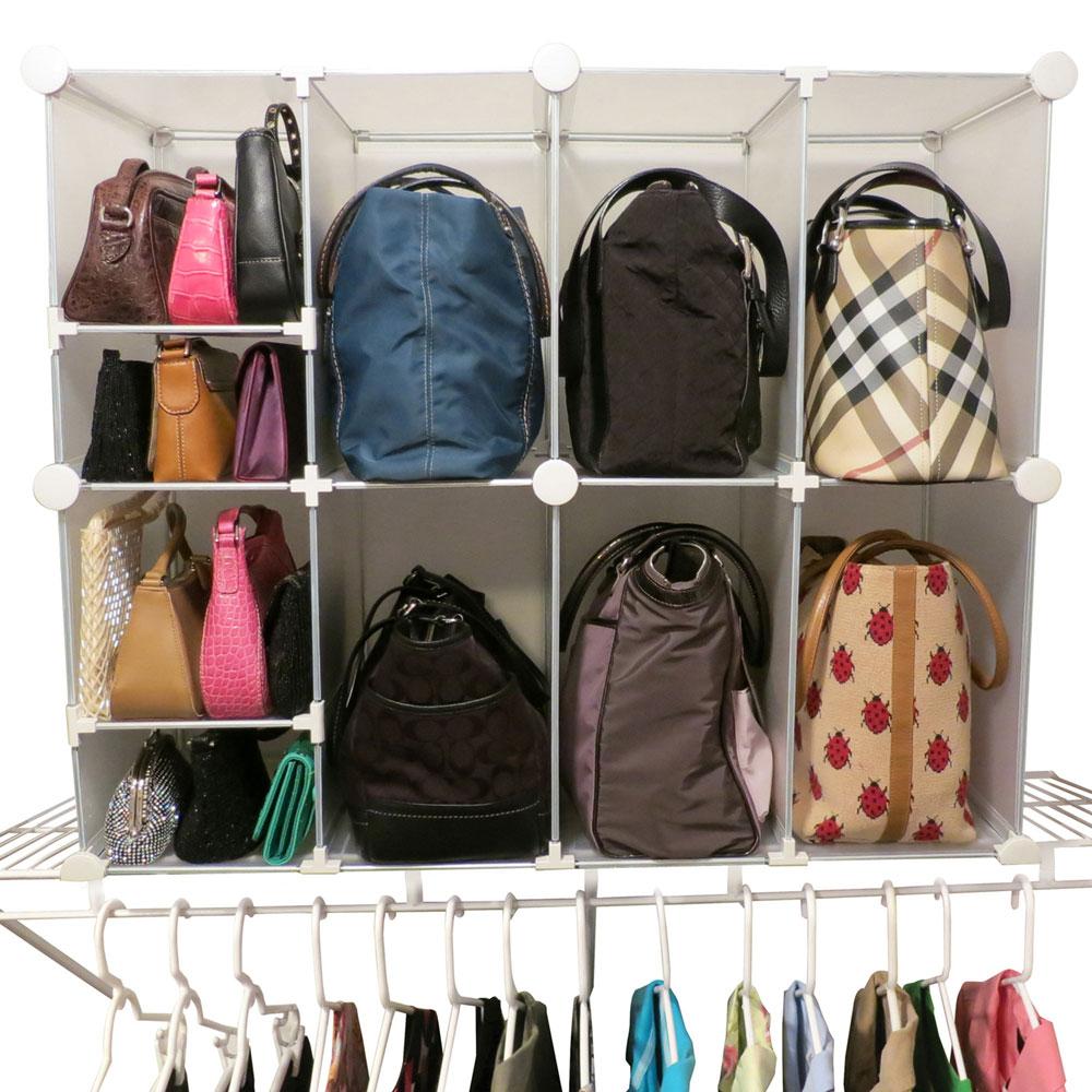 Purse Organizer Closet Ideas Part - 20: Park-A-Purse Organizer - Tote And Clutch Price: $59.99