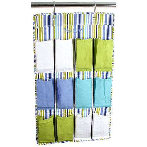 12 pocket hanging shoe organizer parker stripe in over for 12 pocket over the door shoe organizer