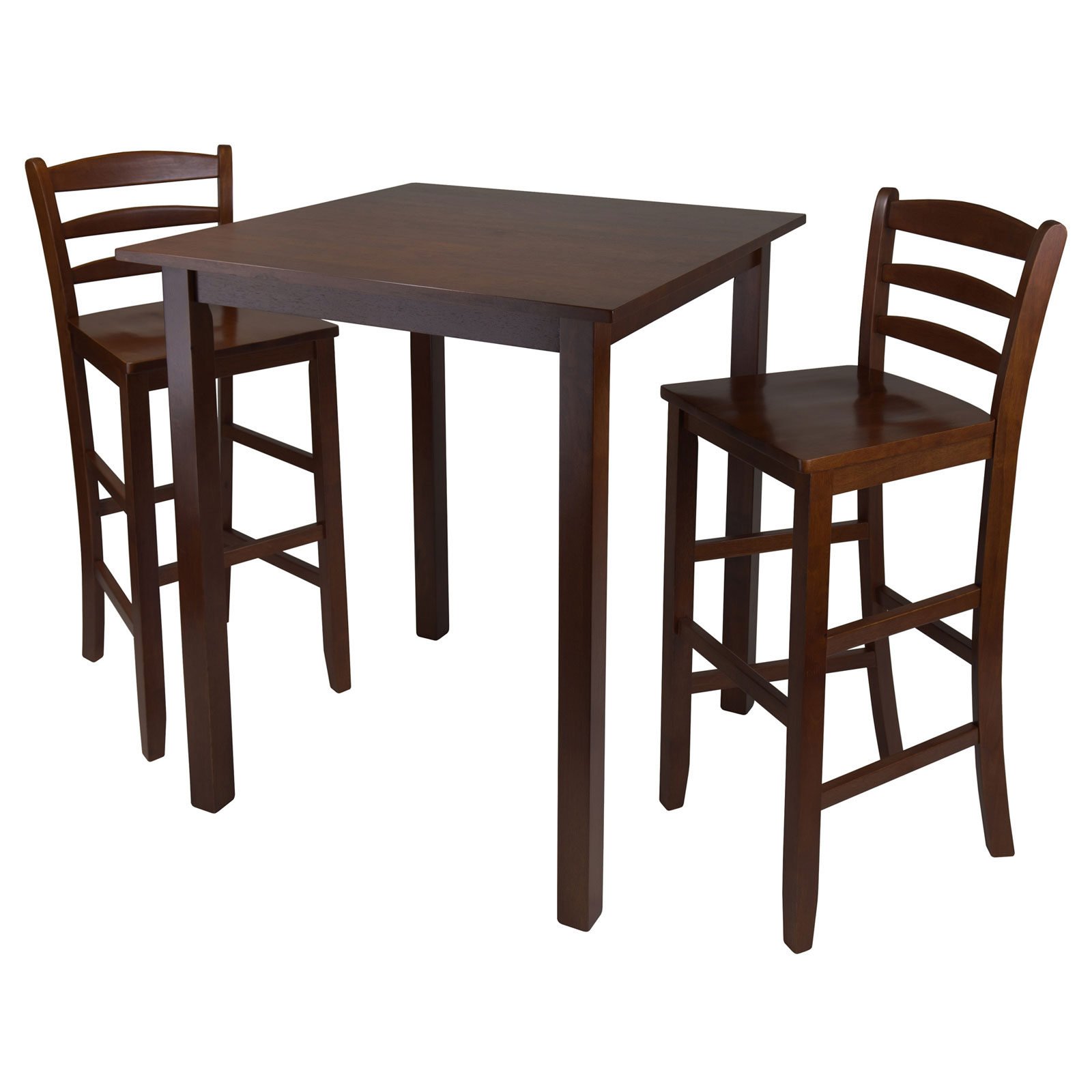 High Table With Stools: Parkland High Table With 2 Ladder Back Stools