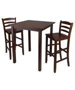 Parkland High Table with 2 Ladder Back Stools - by Winsome Trading