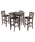 Parkland High Table with 4 Ladder Back Stools - by Winsome Trading