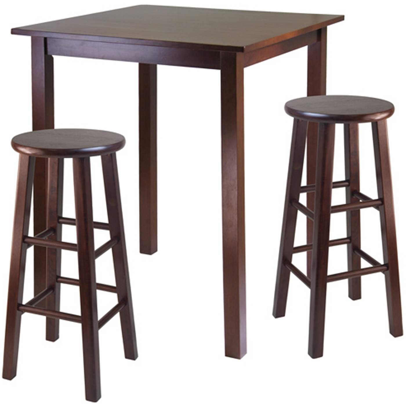 High Table With Stools: Parkland High Table With Two Swivel Stools