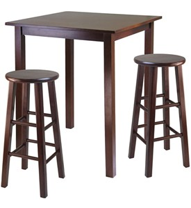 Parkland High Table with Two Swivel Stools - by Winsome Trading Image