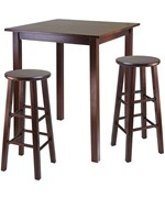Parkland High Table with Two Swivel Stools - by Winsome Trading