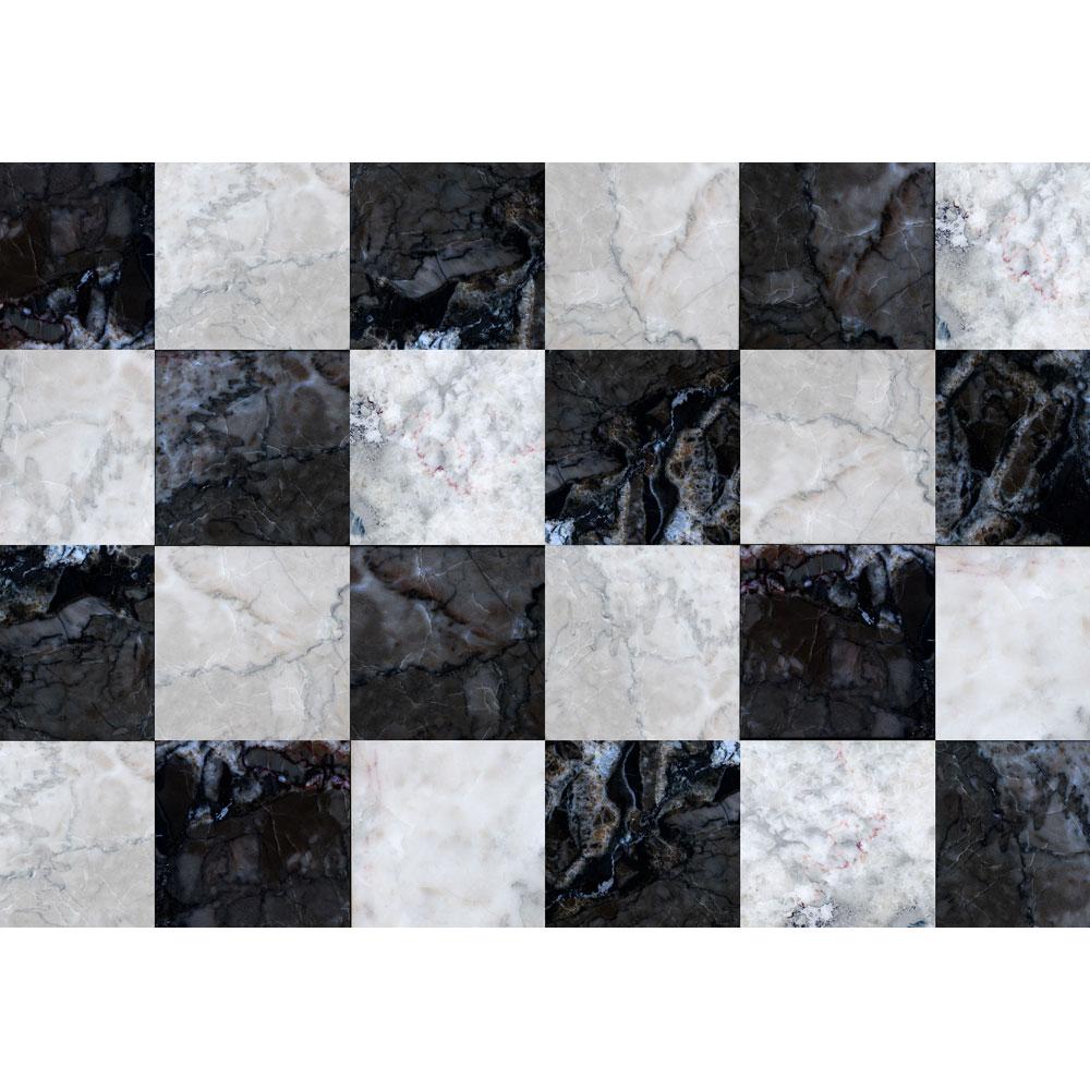 Patterned Rug   Faux Tile ...