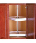 Two-Shelf Cabinet Lazy Susan - White - D-Shaped